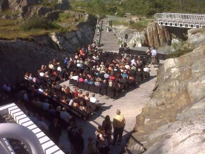 At the Johnson Geo Centre, you can have an outdoor wedding in St. John's!