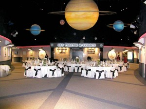 Wedding Reception beneath the planets