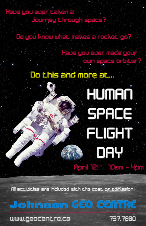 Human Space Flight Day Poster